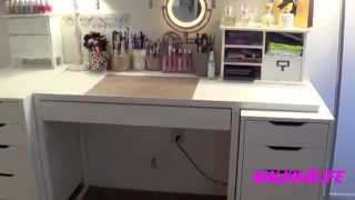 Walkn4life: My Vanity Table Set Up  & Makeup Organization