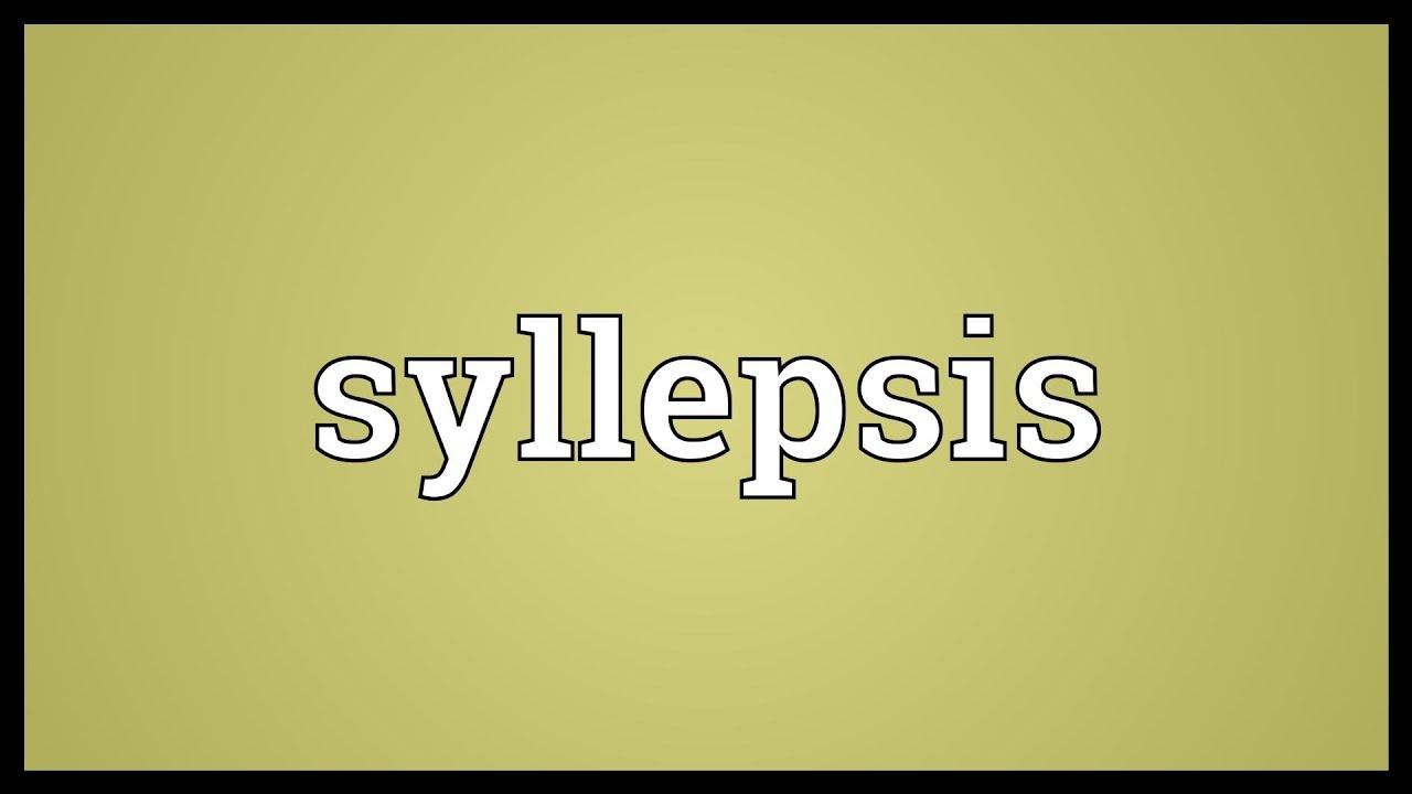 Syllepsis Meaning Youtube