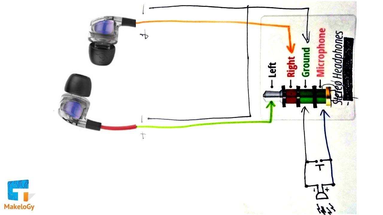 circuit diagram repair your earphones headphones at home same simple steps makelogy  [ 1280 x 720 Pixel ]