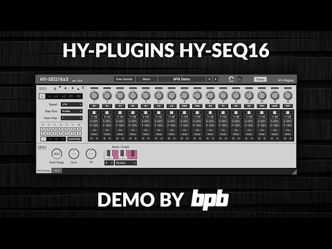 HY-Plugins HY-SEQ16 (FREE Step Sequencer VST Plugin)