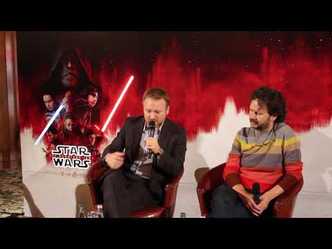 Star Wars The Last Jedi - Press Conference In Paris - Rian Johnson and Ram Bergman