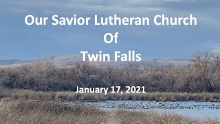 January 17, 2021   The Second Sunday after Epiphany