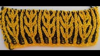 Узор для шарфа- бриошь -Brioche knitting scarf ( теплый,двухсторонний шарф) (узор#43)