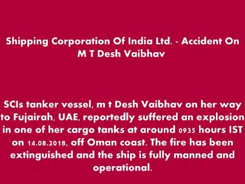 Indian SCI VLCC oil tanker suffers explosion off Oman, 3 crew missing
