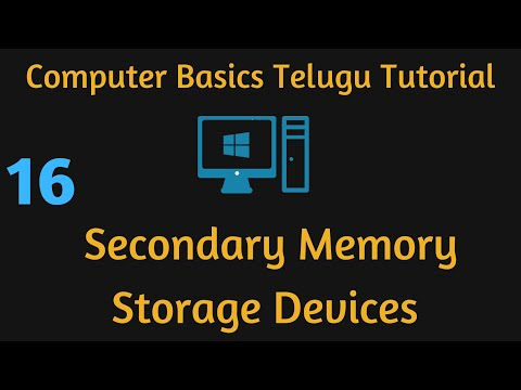 Secondary Memory Storage Devices Telugu Computer Basic Video 16