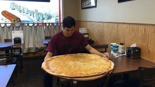 """32"""" Solo Pizza Challenge!! Huge 9+ lbs Food Challenge!!"""
