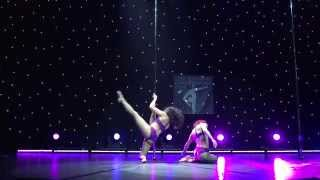 Pika & Markela - Runner Up Doubles Division - Greek Pole Dance Championship 2015 by Rad Polewear