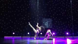 Pika & Markela - Runner Up Doubles Division - Greek Pole Dance Championship 2015 by Rad Polewear