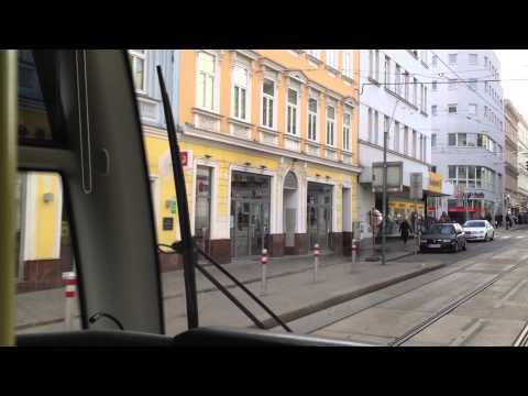 WL Wien Tram   Linie 49: Dr.-Karl-Renner-Ring - Hütteldorf, Bujattigasse   Siemens ULF