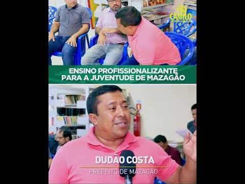 DEPUTADO CAMILO DESTINA EMENDA PARA IMPLANTAÇÃO DE IFAP EM MAZAGÃO