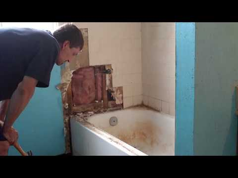 how to: remodeling bathroom 1 - youtube