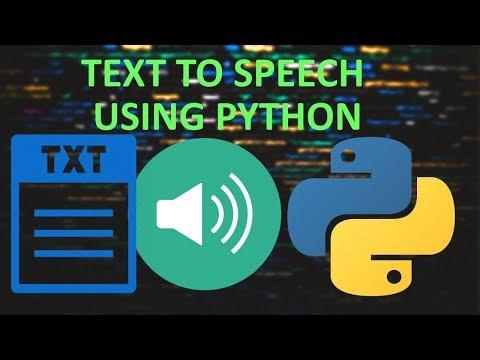 TEXT TO SPEECH IN PYTHON | Convert Text to Speech in Python thumbnail