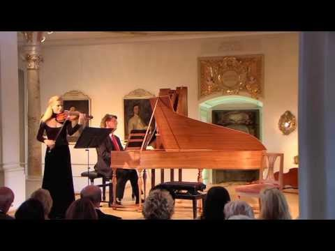 Gudrun Schaumann and Wolfgang Brunner play J.S.Bach Violinsonate Nr.4 c Minor BWV 1017
