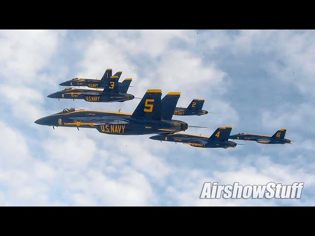 Blue Angels First F-18 Super Hornet Delta! - Aerial Footage/Beach Buzz