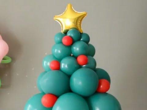 Cmo hacer un rbol de Navidad con globos  YouTube
