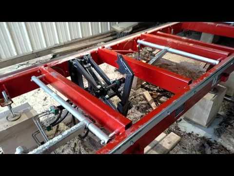 DIY Woodmizer LT-15 wide log turner