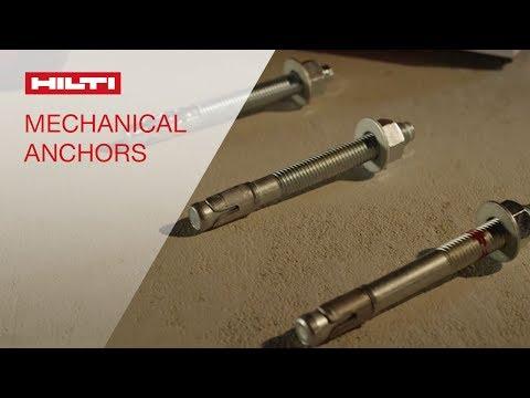 REVIEW of the Hilti anchor portfolio - KWIK BOLT® anchors