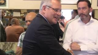 'Australian Prime Minister Scott Morrison's special moment in Sisto's seat @ Pellegrini's