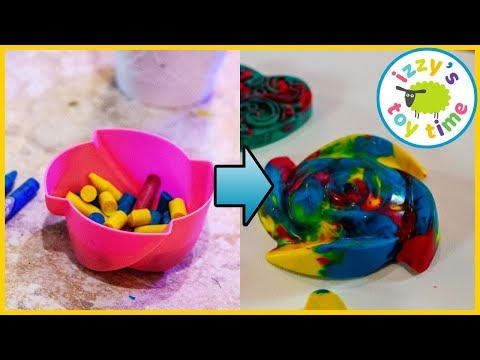 CRAYON SCULPTURES! Learning and DIY Crafts with Izzy's Toy Time! Family Fun!