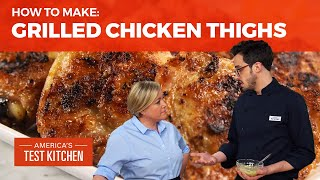 How to Make the Best Grilled Chicken Thighs with Mustard and Tarragon