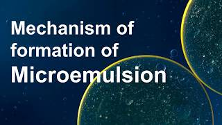 Microemulsion and its mechanism of formation