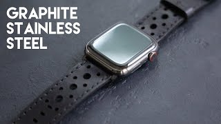 UNBOXING Apple Watch Series 6 GRAPHITE Stainless Steel 44mm