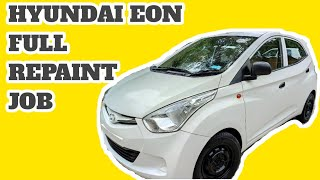 Hyundai Eon Full Repaint job   Colour Code PSW   Before & After Wale   lucknow