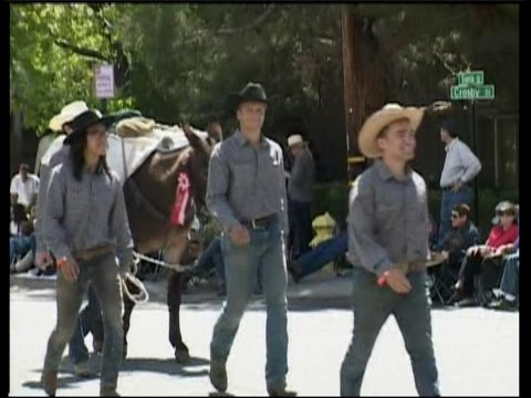 Deep Springs College  Students in Mule Days Parade Bishop, CA  - May 24, 2015