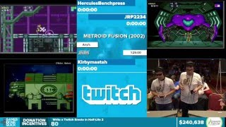 Metroid Fusion by Various Runners in 1:14:37 - Awesome Games Done Quick 2016 - Part 48