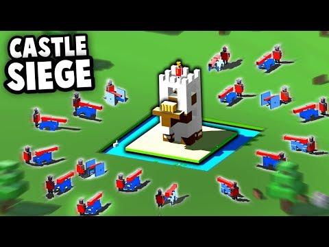CASTLE SIEGE!  Physics Based Castle Destruction! (Royal Tumble Rumble Gameplay)