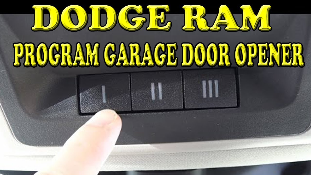 Dodge Ram 1500 How To Program The Garage Door Opener Youtube