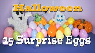 25 Surprise Eggs 25 Spooky Surprise Eggs with Candy, Scooby Doo Toys Surprise Eggs Surprise