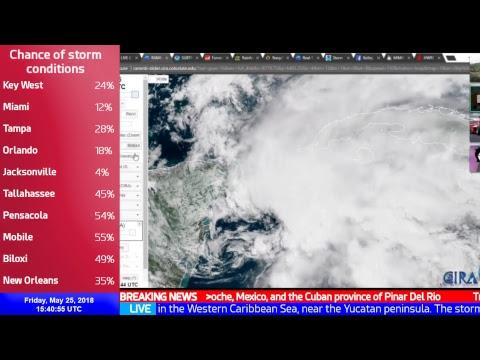 LIVE Coverage of Subtropical Storm Alberto and Cyclone Mekunu - Force Thirteen