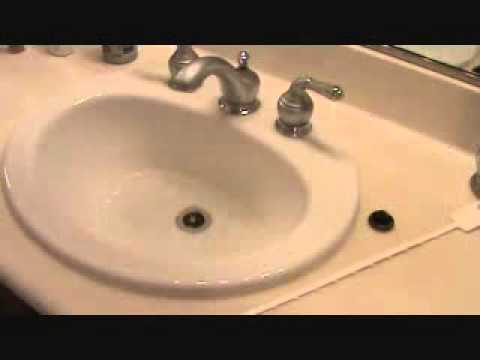 how to clear out a bathroom sink clogpart 1
