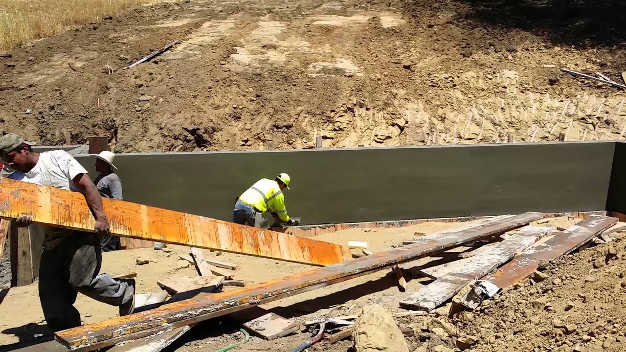 Poured in Place Concrete Retaining Wall Bay Area All