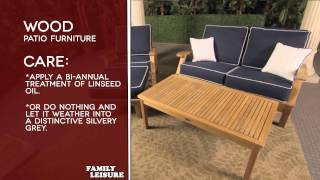 Wood Patio Furniture Buyers Guide Video