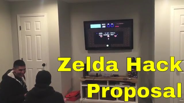 Man Proposes Using Legend Of Zelda Nes Hack Youtube