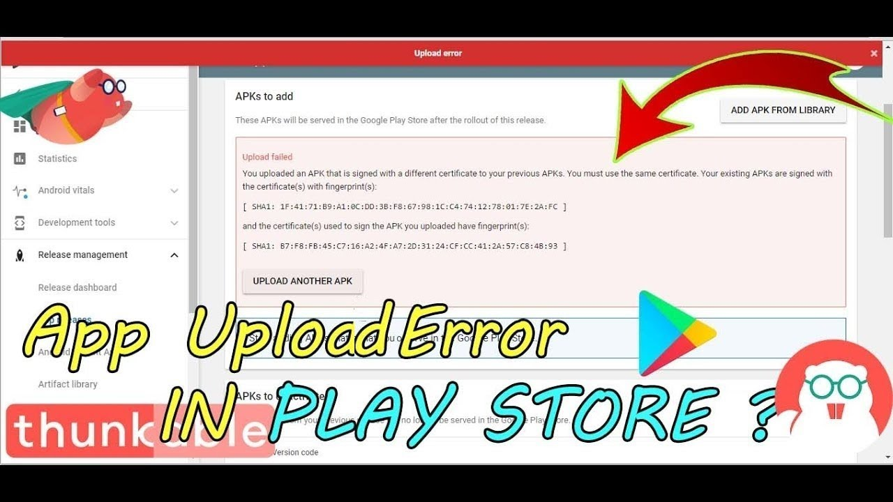 How to solv thankable App Upload error app update issue in play store in  Hindi/Thunkable Tutorial #4