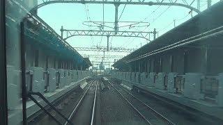 【前面展望】工事中の梅小路京都西駅も、亀岡→京都 快速2216M  19.1.16 thumbnail