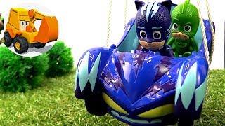 Videos para niños - Juguetes de PJ Masks heroes en pijamas en español - Un Globo