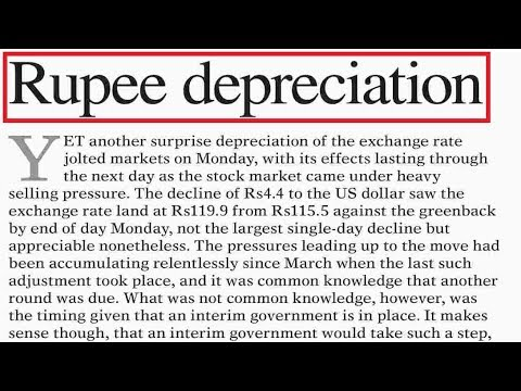 Rupee Depreciation- Economy of Pakistan - Current affairs 2018