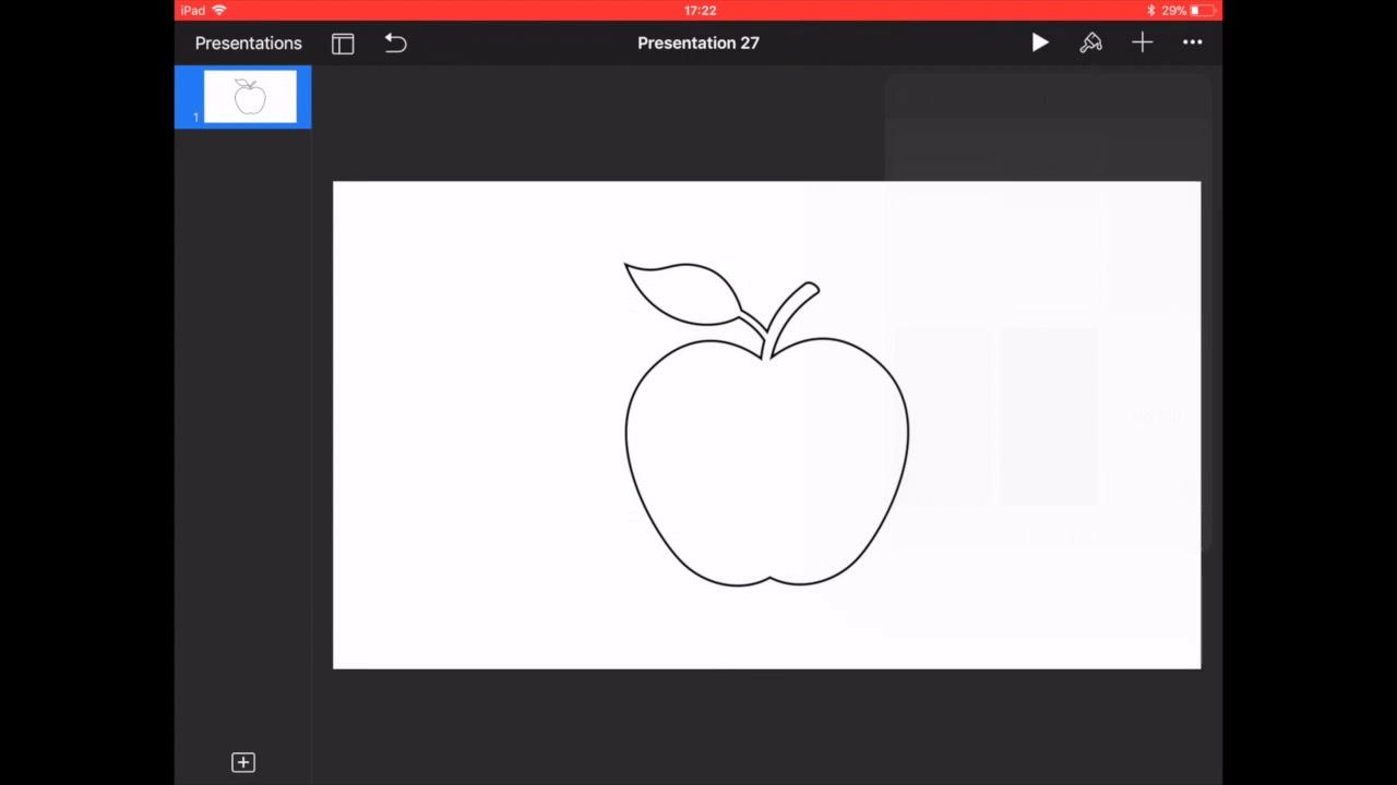 Animating Keynote (iPad) - Line Draw