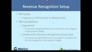 Microsoft Dynamics GP - Project Accounting Series - Part 7 - Revenue Recognition