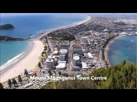 Walk to the summit of Mount Maunganui, Bay of Plenty, New Zealand