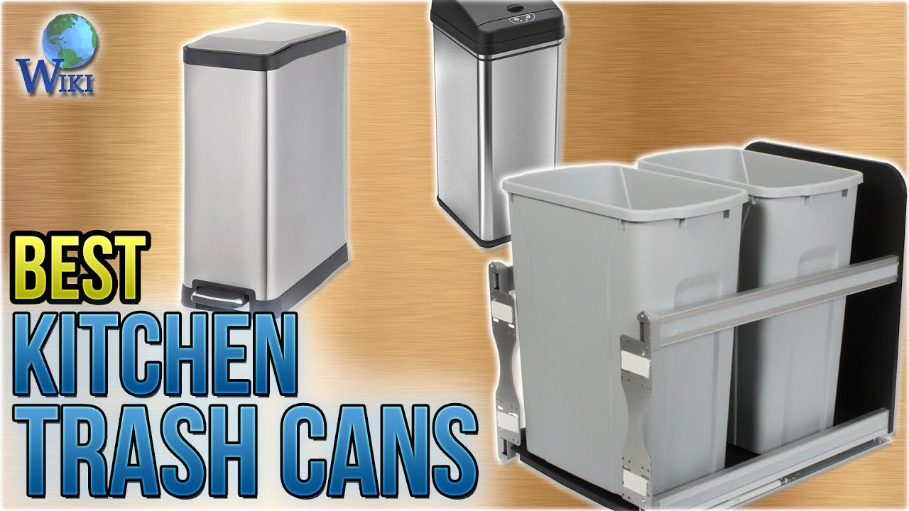 Kitchen Trash Bar Table For 10 Best Cans 2018 Youtube