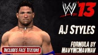 WWE '13 AJ Styles كاك الصيغة MavyMcMavmav