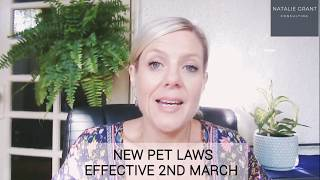 RTA Law reform fun facts- Pets
