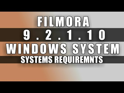 FILMORA 9 | SYSTEM REQUIREMENTS