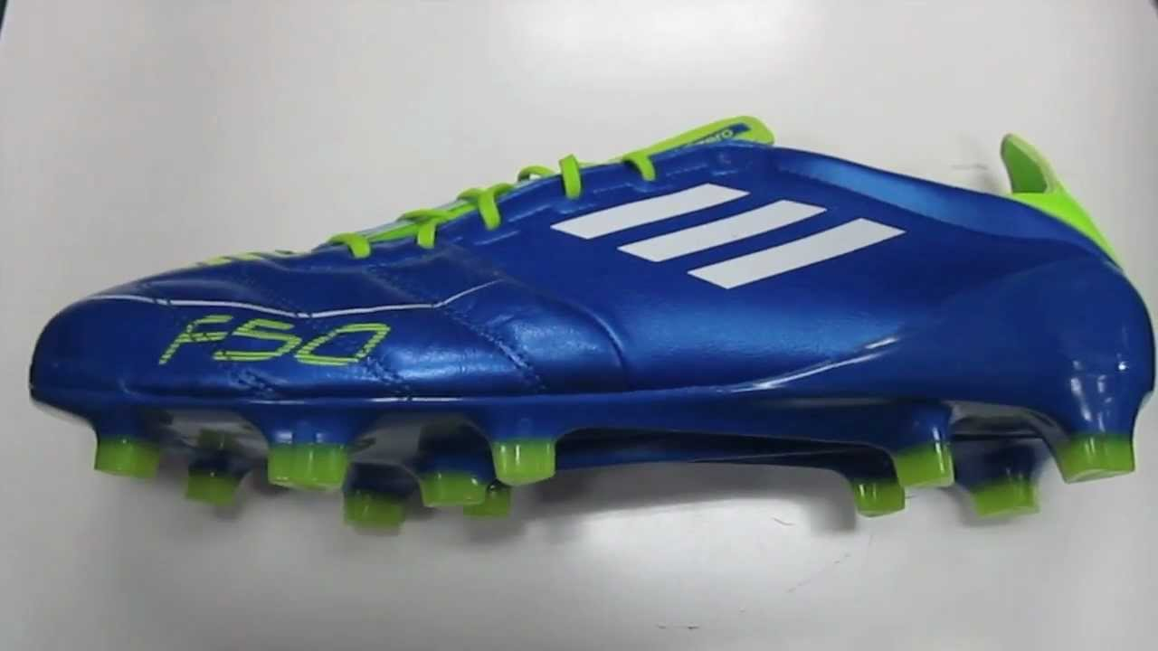 65140e938 Adidas F50 adizero Leather Anodized Blue White Slime - UNBOXING ...