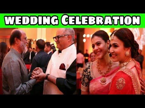 Ajith Movie Producer Boney Kapoor,Kajol & More Bollywood Celebrities@Rajini Daughter Wedding Party